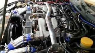 Essais de démarage apres preparation moteur nissan 300 zx bi turbo