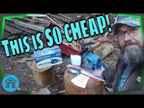 Cheapest Chainsaw On Amazon Unboxing Review   Garwinner 5820G