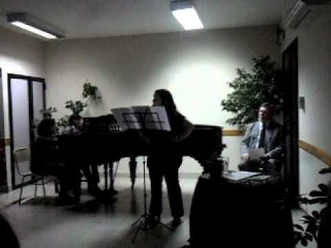 Paula de Genova Gala lirica en la Alianza Francesa alumnos del conservatorio.