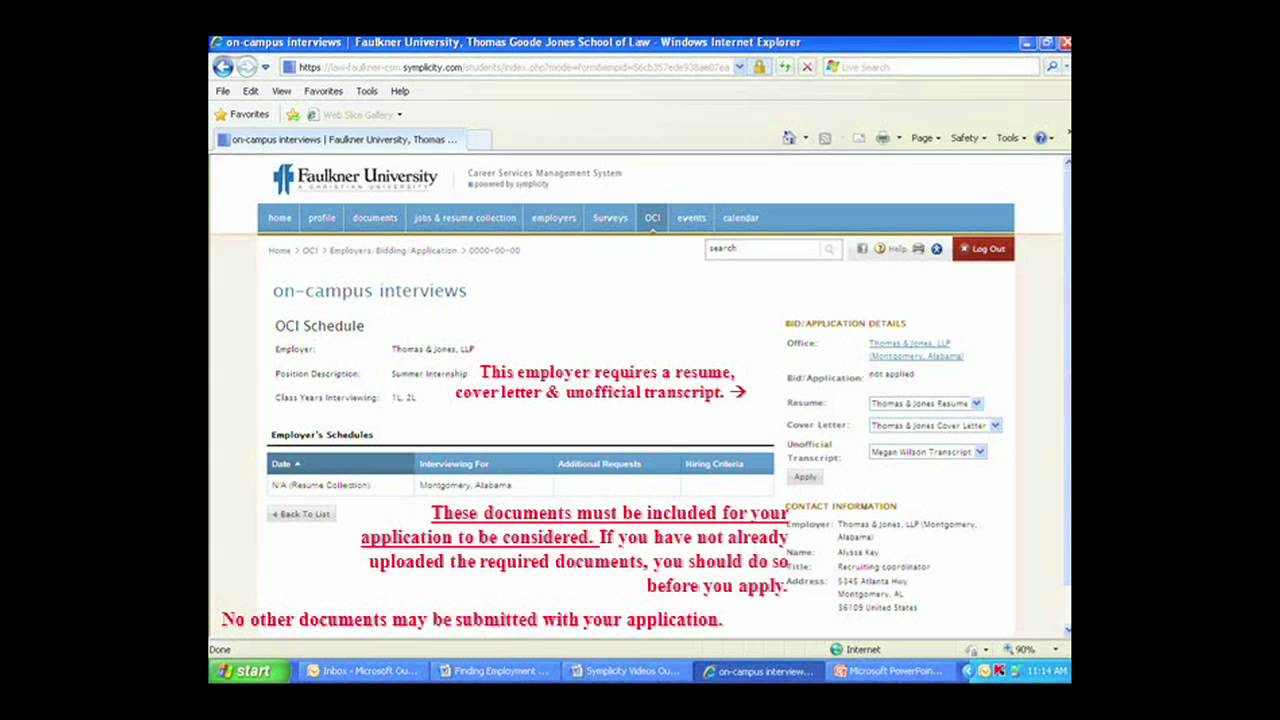 Symplicity 102 Finding Employment Youtube
