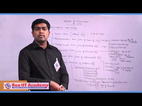 Giological time scale and Human Evolution - NEET AIPMT AIIMS Zoology Video Lecture