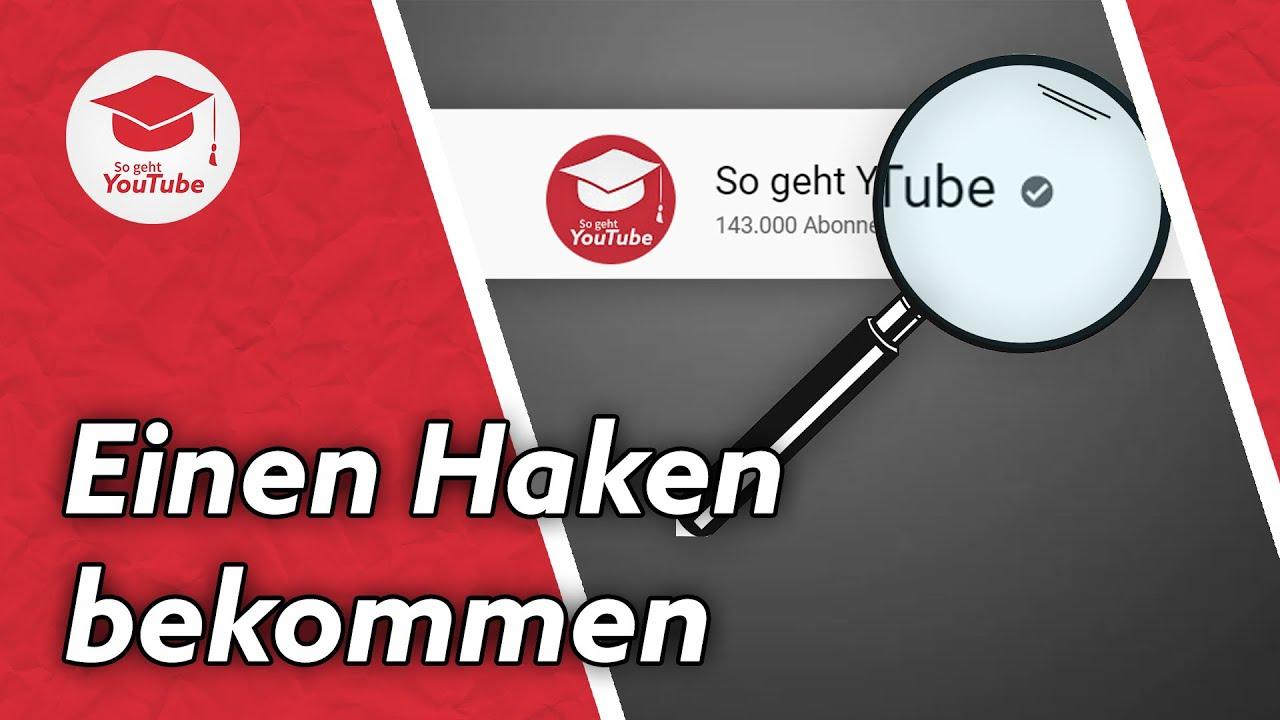 Wie du einen Verifizierungshaken auf YouTube bekommst | #WiegehtYouTube