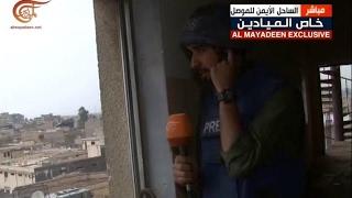 قناص داعش يستهدف فريق الميادين في الموصل