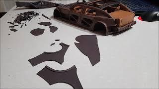 Постройка Модели Автомобиля Из Пластилина 9. Внешняя Обшивка (1 Часть)