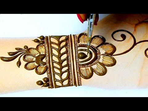 Simple Shaded Flower Mehndi Design for Front Hands- आसान मेहँदी डिज़ाइन लगाना सीखे | Stylish Meahndi