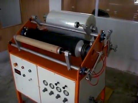 видео: станок для перемотки и резки стрейч пленки ПР-600/2