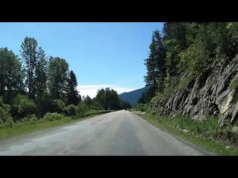 US Highway 2 around Glacier National Park: to East Glacier Dashcam