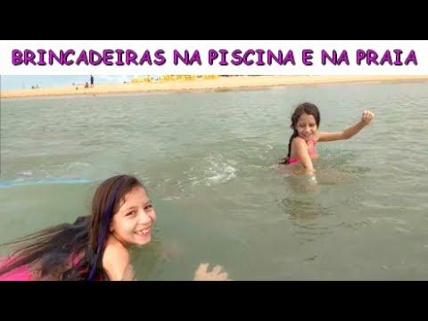BRINCADEIRAS NA PISCINA E NA PRAIA - VIAGEM PARTE 4