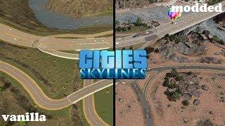 Cities: Skylines - Vanilla VS Modded