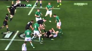 Rob Kearney hands off Sonny Bill