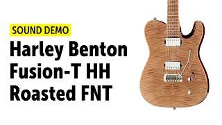 Harley Benton Fusion-T HH Roasted FNT Sound Demo (no talking)