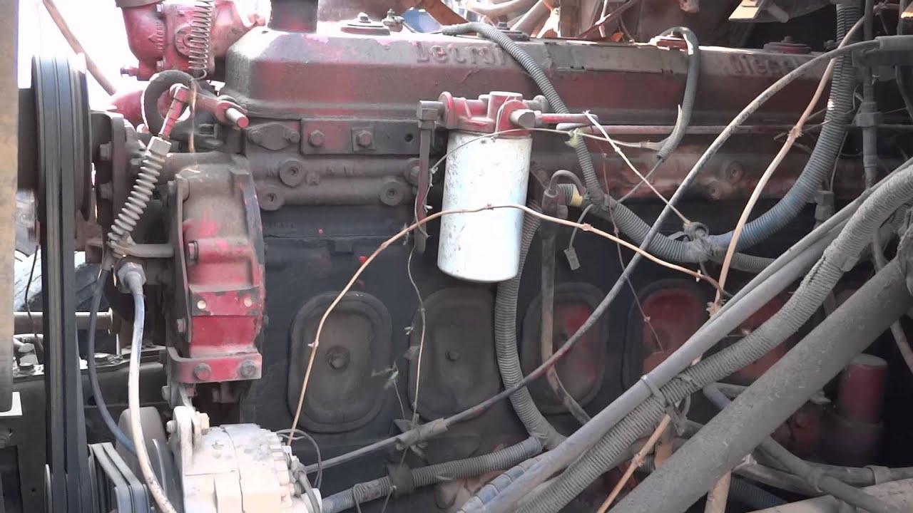 4 stroke diesel engine diagram 6 71 detroit diesel start up idle throttle up and