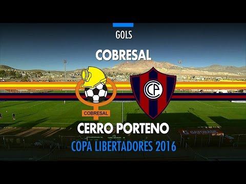 Gols - Cobresal-CHI 2 x 0 Cerro Porteño-PAR - Libertadores - 13/04/2016
