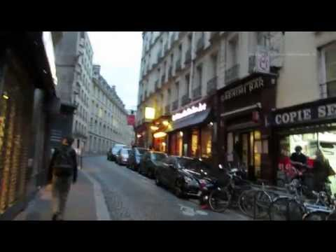 Evening walk around Saint Michel District in Paris 10