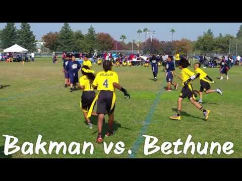 Bakman Elementary School Flag Football 2016
