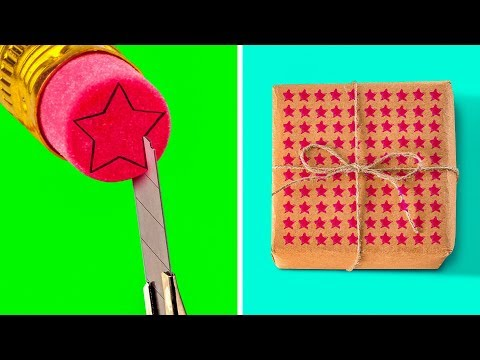 50 EASY GIFT WRAPPING IDEAS AND HACKS