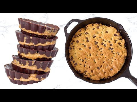 Healthy Dessert Recipes! Quick Healthy Dessert Ideas ft. Chocolate Chip Cookie Skillet!