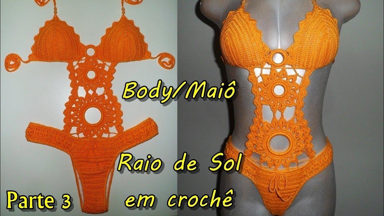 eced911b11 Body Maiô em crochê - Barriga - Parte 3 3 - YouTube