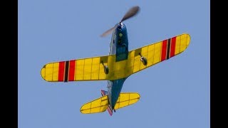 """Two evenings of trim flying with the 27"""" rubber-powered Fairchild P..."""