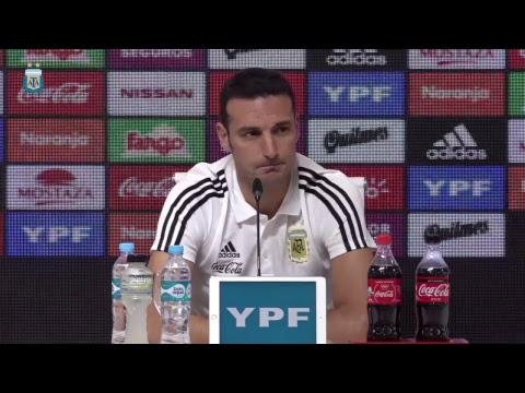Conferencia de prensa Lionel Scaloni - DT Selección Argentina