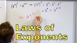 Gambar cover 13 - Exponent Rules of Algebra (Laws of Exponents, How to Multiply & Add Exponents)