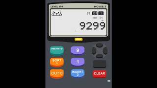 Calculator 2 The Game Level 199 Solution
