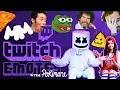 Pokimane Teaches Mello Twitch Emotes While Playing Forza | Gaming with Marshmello