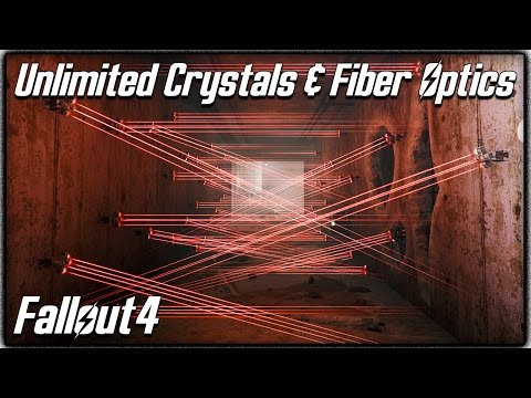"Fallout 4 - Unlimited ""Crystals & Fiber Optics"" Location! Easy Way to Upgrade Weapons & Armor!"