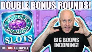 24 Free Games! 💎Double Diamond 💎Bonus Round WIN$!   The Big Jackpot