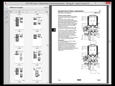 daf 95xf series - maintenance  u0026 workshop manual