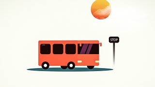 Adobe Illustrator cc 2015 - Flat Bus Graphic Design