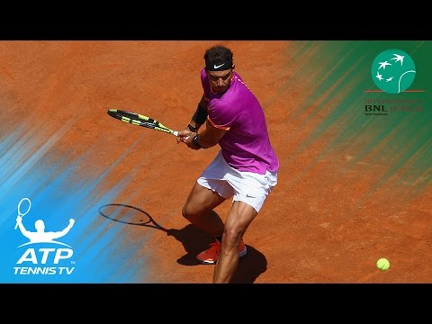 Phenomenal Rafa Nadal shots vs Jack Sock | Rome 2017 Day 5