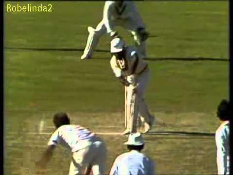 Qasim Umar 113 vs Australia 3rd test 1983 Adelaide