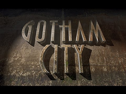 Photoshop CS5 Extended Tutorial : 3D TEXT - How to Make a Massive Wall to BATMAN'S GOTHAM CITY