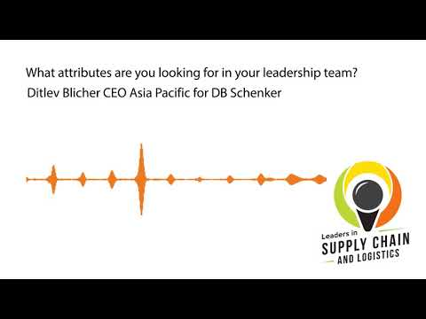 Ditlev Blicher CEO Asia Pacific DB Schenker - On the Leadership Team
