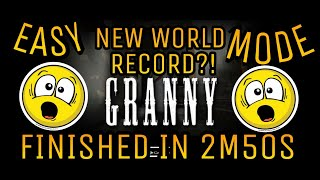 GRANNY HORROR GAME - NEW WORLD RECORD?! - I FINISHED THE GAME IN 2m50s!!