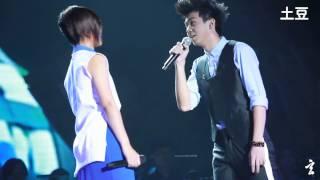 20131019 周笔畅深圳UNLOCK演唱会 - 周笔畅vs白举纲《密友》【超清】