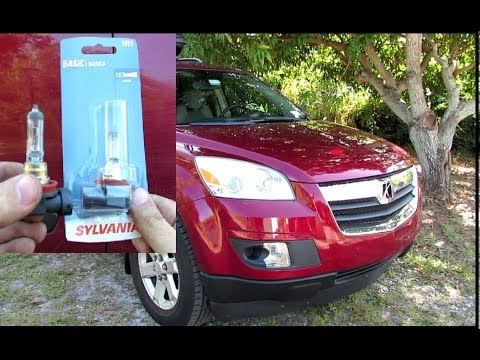 How To Replace Headlight Bulb In 2007 2010 Saturn Outlook