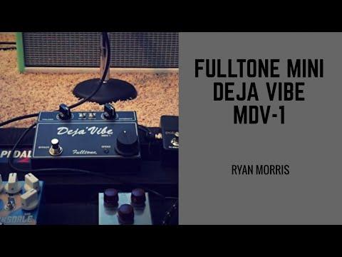 Fulltone Mini Deja Vibe MDV 1 Black Edition 9V Demo