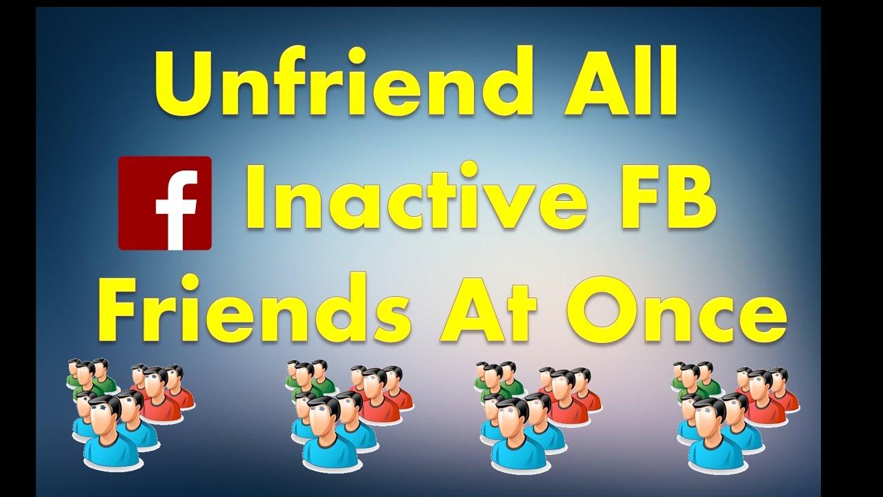 unfreind all fb freinds