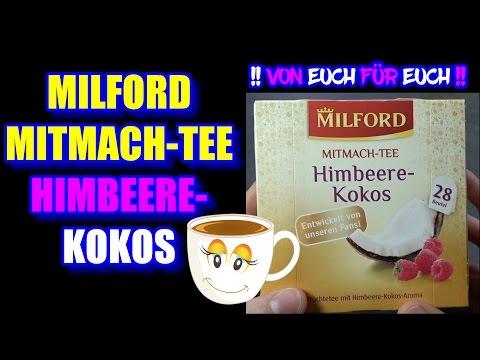 Milford Tee Himbeere Kokos ++ MITMACHTEE TEST ++ I IchGebWas