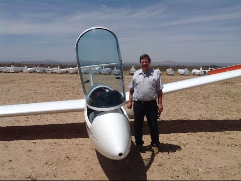 Dan Baumgartner's First Glider Lesson at Southern California Soaring Academy .  Instructor, Dale
