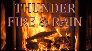 2 hours best mix of fireplace & thunder + soft rain + classical music