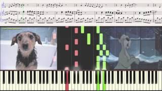 Пропала собака - В. Шаинский (Ноты и Видеоурок для фортепиано) (лёгкий вариант)(piano cover)