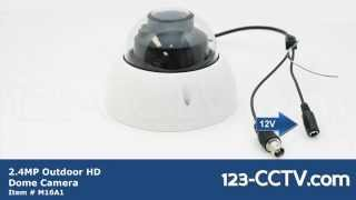 2.4MP 2 Megapixel Outdoor HDCVI Dome Camera Motorized Zoom 1080P 2.7-12mm Lens