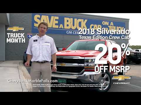 Marble Falls Chevy >> Chevy Buick Marble Falls Save On 2018 Silverado S In August