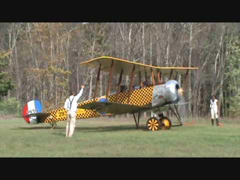 Old Rhinebeck Aerodrome's AVRO 504K flies again