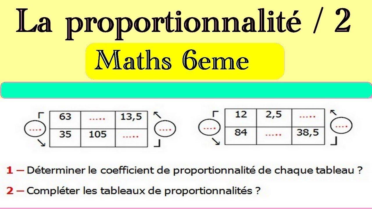 Maths 6eme La Proportionnalite 2 Exercice 4 Youtube