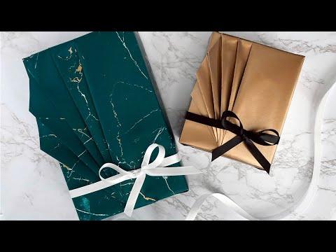 Fan Pleats Gift Wrapping Tutorial