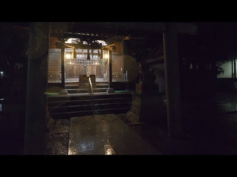 【4K】Backstreets of Japan at night 3 Heavy rain